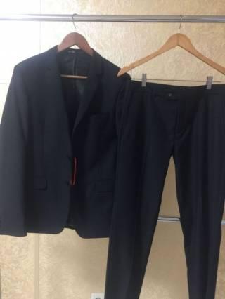 Мужской классический черный костюм 4