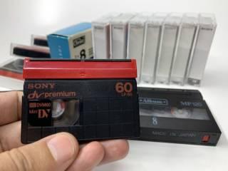 Кассеты Sony miniDV premium, Video8 3