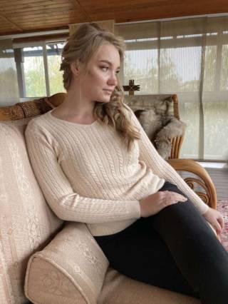 Женский вязаный кашемировый свитер / джемпер
