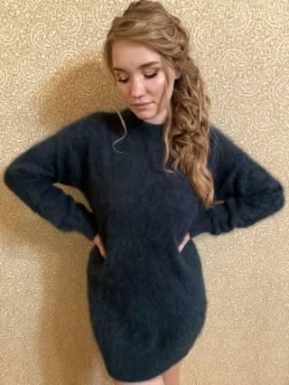 Женский кашемировый свитер / платье 5