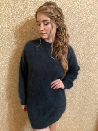 Женский кашемировый свитер / платье 6