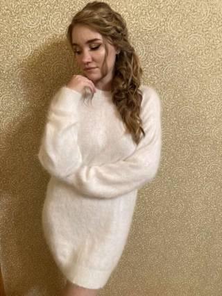 Женский кашемировый свитер / платье 2