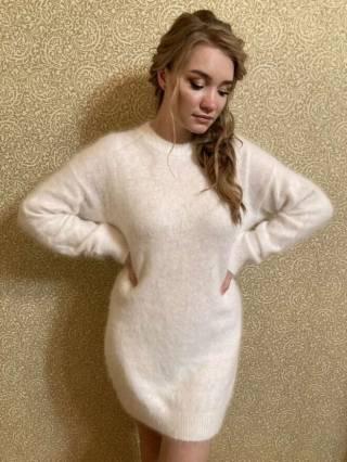 Женский кашемировый свитер / платье