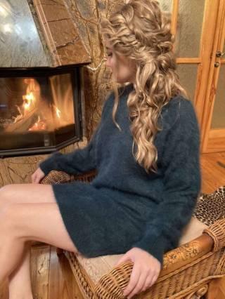 Женский кашемировый свитер / платье 7