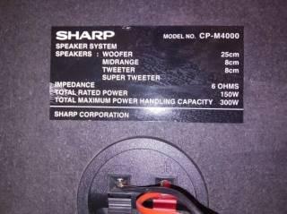 Музыкальный центр Sharp CD-M4000. AUX-BLUETOOTH-USB, MP3. 3