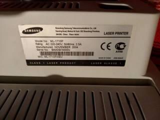 Принтер лазерный Samsung ML-1710P Отличный 3
