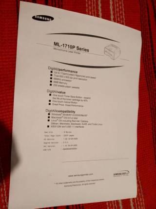 Принтер лазерный Samsung ML-1710P Отличный 4