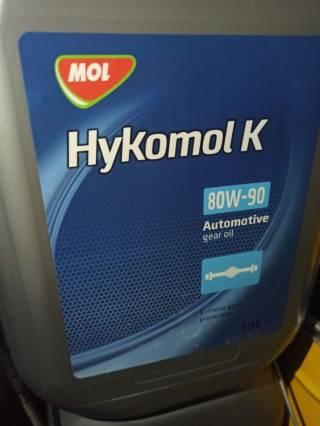 Масло трансмісійне 80W-90 MOL Hykomol K GL-5 10л=750гр 6