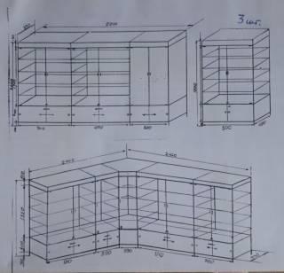 Комплект бу витрин для магазина 4 х 3,5 м 3