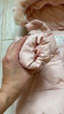 Продаём  пуховик Zara 12/18 мес! Идеальный, зефирный! Тёплый! 3
