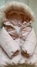 Продаём  пуховик Zara 12/18 мес! Идеальный, зефирный! Тёплый! 2