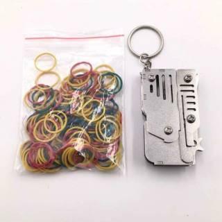 Резиновая лента диаметром 15 мм - 100 штук пистолетик 5