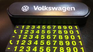 Автовизитка, парковочная карта авто с логотипом 7