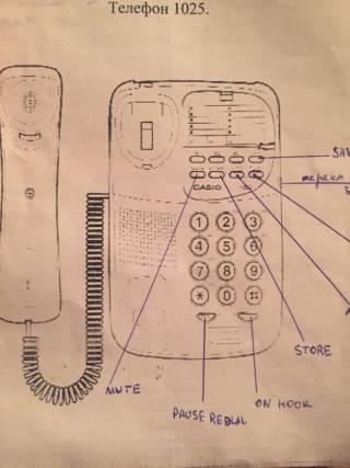 Телефон Casio  стационарный 2