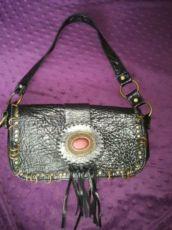 Кожаная сумка ARIDZA BROSS оригинал с натуральным камнем