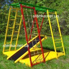 Детский спортивный игровой комплекс для дачи. Спортивный уголок, горка