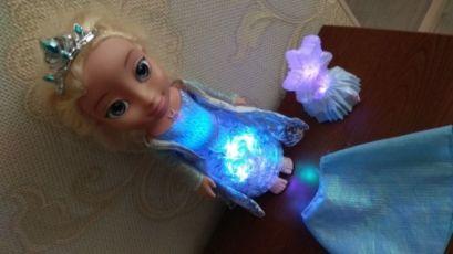 Disney кукла Дисней Эльза Холодное сердце Северное сияние лялька поет 2