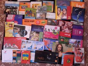 Коллекция сим-карт и стартовых пакетов со всего мира