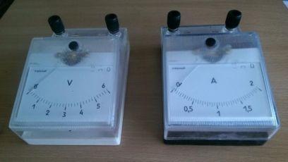 Амперметр, вольтметр шкільний учбовий (ціна за 1 шт.)