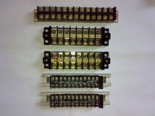 Блок зажимов клеммная колодка, Кубики электрические и монтажные планки