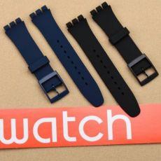 Swatch ремешки каучук и натуральная кожа 12, 17, 19, 20 мм
