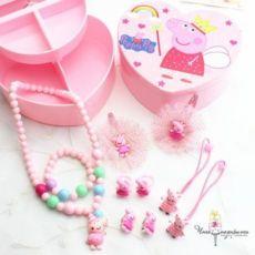 Детская шкатулка с украшениями, клипсы, заколки, бусы, игрушки, набор