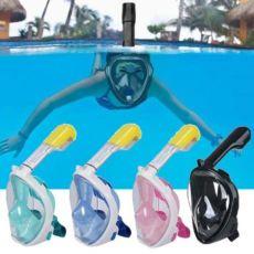Голубая, черная, зеленая маска для плавания, ныряния, плавания на море