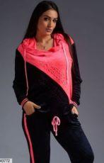Женский велюровый спортивный костюм размеры: 48-50, 52-54