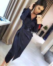 2c308e4b007 Платье халат с запахом на запах пиджак шелковое черное бордовое синее 2 ...