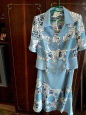 Продам женский летний костюм б/у размер 50-52.