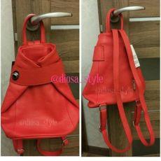 Divas bag кожаный итальянский рюкзак новый