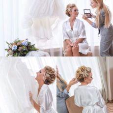 Свадебный халатик для фотосессии УТРО НЕВЕСТЫ