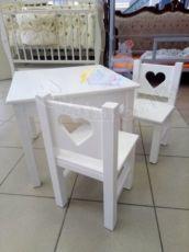 Набор стол и стул «Сердечки», детский столик, стульчик