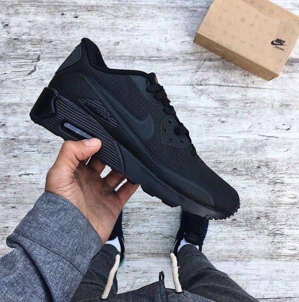 Кроссовки Мужские Nike Air Max 90 Ultra Moire Triple Black  1 349 ... de35ac166e514