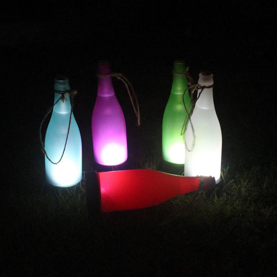 Фонарик на солнечной батарее в виде бутылочки,ночник.подсветка.украшен