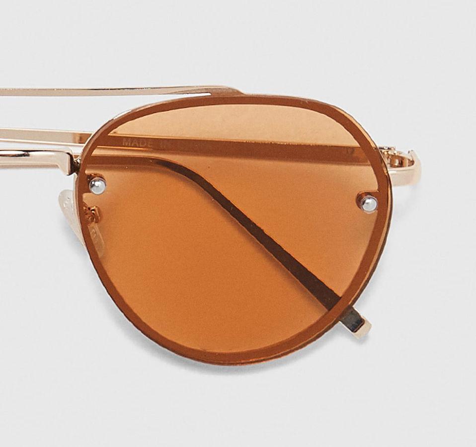 Солнцезащитные очки-авиаторы ZARA в металлической оправе. 2018 год ... 773ac07c41f