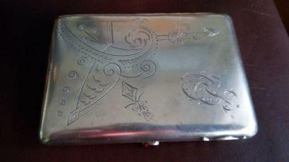 портсигар серебро 84 проба