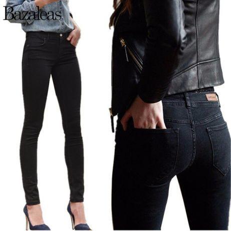 091d44dbdd9 Черные женские джинсы стрейч высокая посадка завышеная талия  450 ...