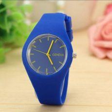 Наручные часы,силиконовый браслет,черные, синие, желтые