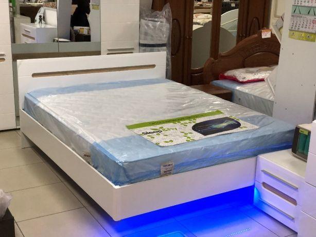 хит красивая белая кровать бьянко с подсветкой в наличии размеры
