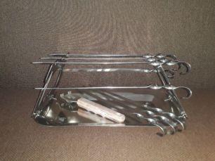 Шашлычница для духовки с шампурами