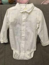 Белая рубашка на годик,нарядная рубашка на мальчика,рубашка Некст