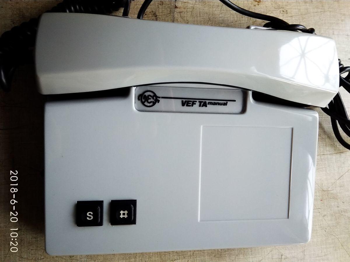 Телефоны VEF TA Manual CССР, новые, в заводской упаковке.
