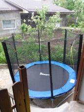 Батут Джаст Джамп диаметром 252см 8ft для детей с лесенкой и сеткой