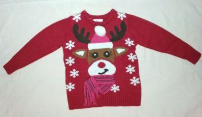НОВЫЙ новогодний зимний свитер кофта для девочки 2-3 года bonprix