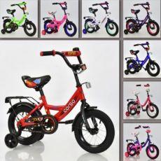Детский велосипед. Колеса 12 дюймов. Для 3-4 лет. Разные цвета.