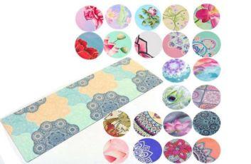 Коврик для йоги двухслойный замша + каучук 5662 йога мат: 13 цветов