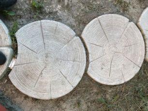 Тротуарная плитка Сруб. Пенек. Сруб дорожка диметр 60 см толщина 5 см