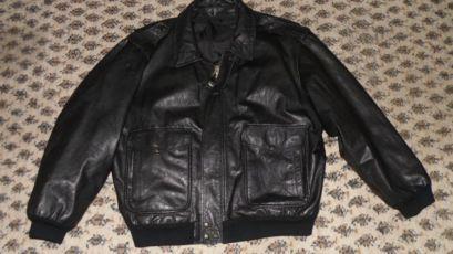 Кожаная куртка пилот бомбер США Mac Douglas