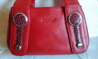 Кожаная красная сумка Giorgio Ferretti. Италия! Потрясающе Красивая!